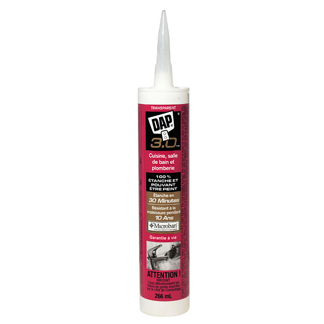3.0 Sealant - Kitchen, Bath and Plumbing - 266 ml - Clear