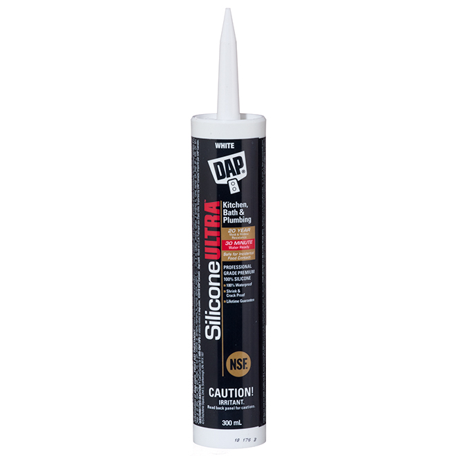 Silicone Ultra Sealant - Kitchen and Bathroom - 300 mL - White