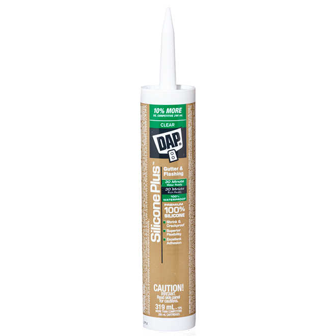 DAP Silicone Plus Sealant - Gutter and Flashing - 319 mL