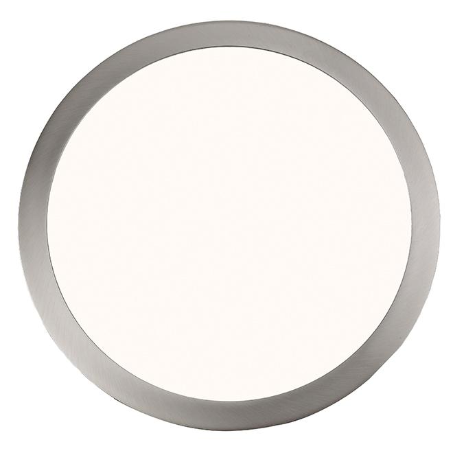 Plafonnier circulaire, éclairage DEL intégré, nickel brossé
