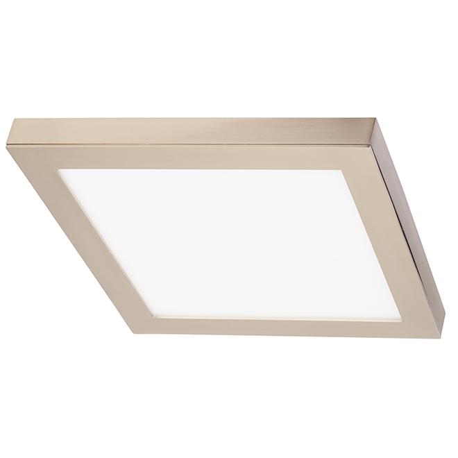 Square Flushmount - Integrated LED Lighting - Brushed Nickel