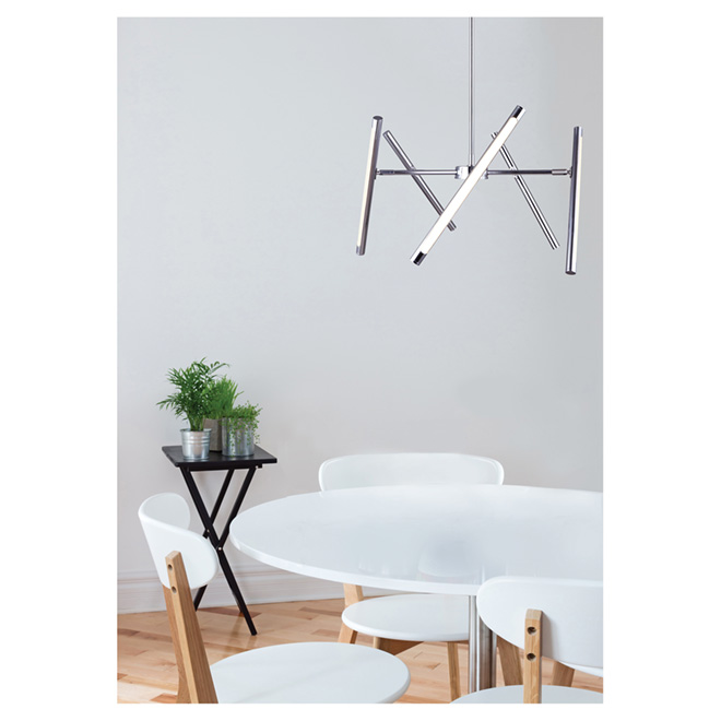 Chandelier - LED - Frosted PVC Lens - Dimmable - Chrome