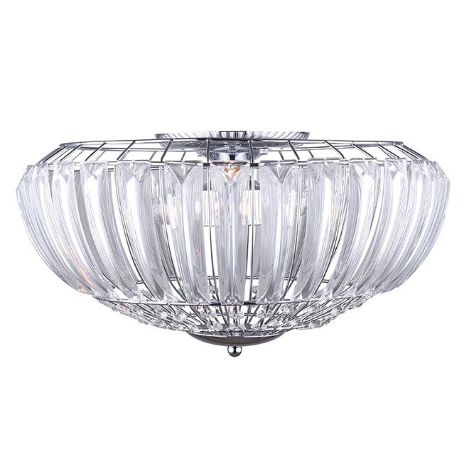 Coco Flush-Mount 3-Light Ceiling Light - 60W - Chrome