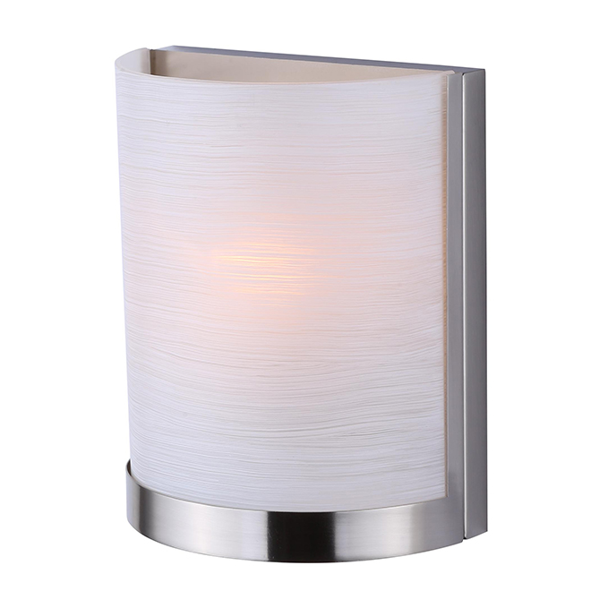 1-Light Wall Fixture - Lea - Brushed Nickel