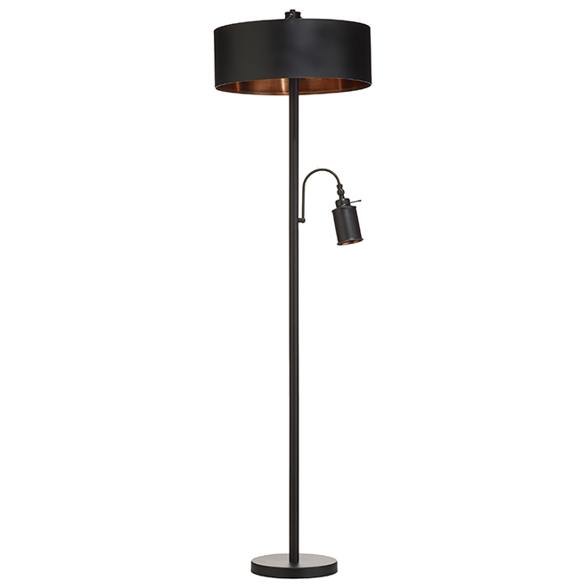 Floor Julio and Reading Lamp IFL479B71BKZ BlackBronze 4jqRLA35