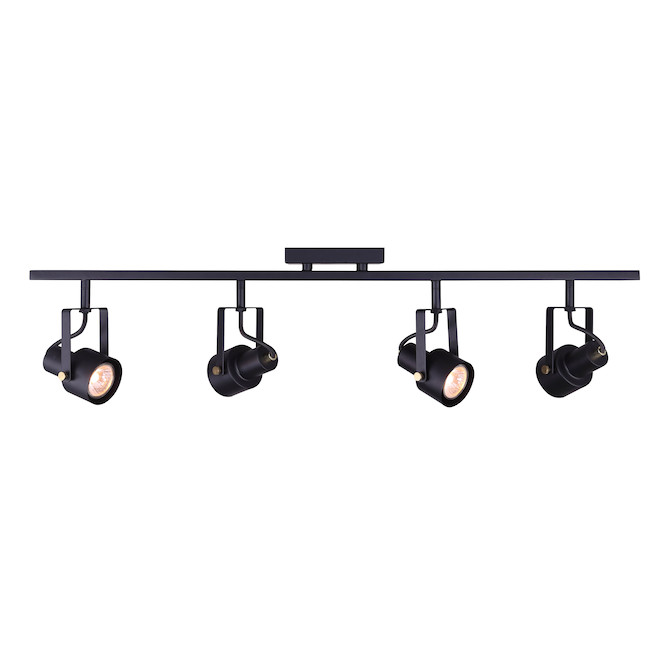 Rail d'éclairage Rosedale, 4 lumières 7.5 W DEL, 19'', noir
