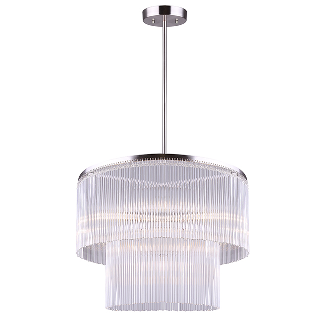 """Jacino"" 6-Light Chandelier - 60 W - Brushed Nickel"