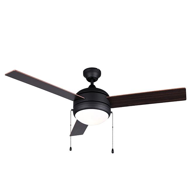 """""""Calibre III"""" Ceiling Fan - 48"""" - 60 W - Matte Black"""