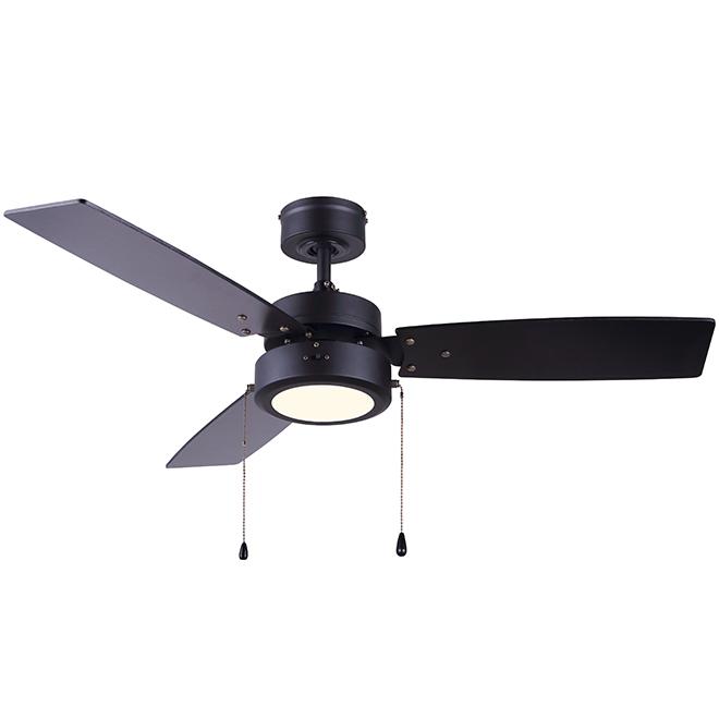 "LED Ceiling Fan - 42"" - Black Matte"