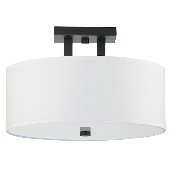 Semi Flush Mount Ceiling Light 15 X 10 Matte Black Isf789a03bk Rona