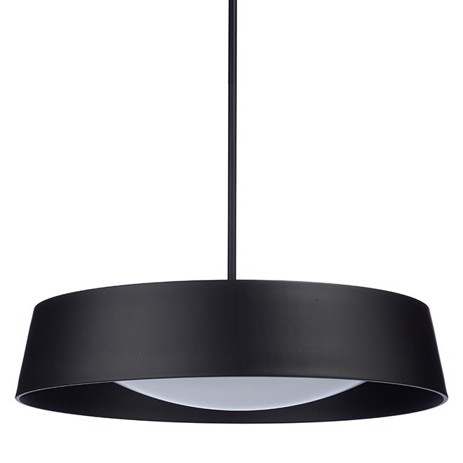 LED 1-Light Pendant Adira - 22'' - Metal - Black