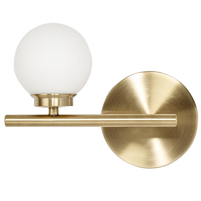 Applique pour vanité, 1 lumière DEL, 7 W, 10'', or