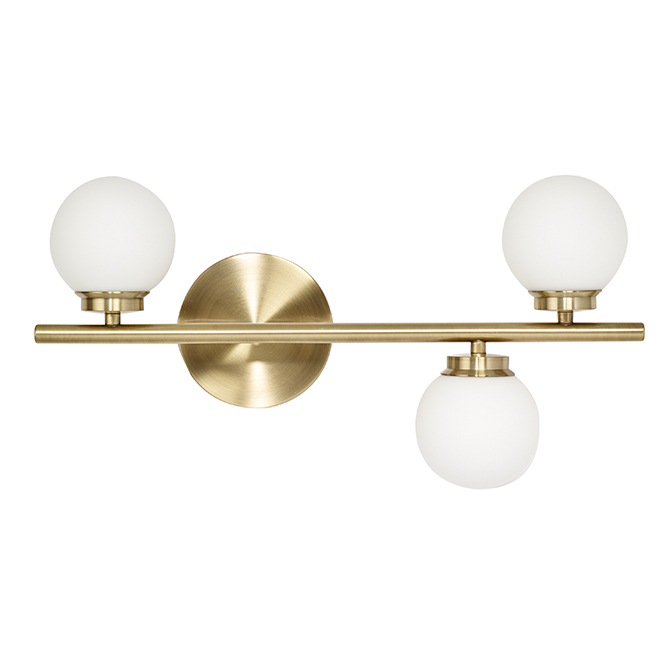Bathroom Vanity 3 Light Fixture Led Gold 19 Lvl176a03gd Rona