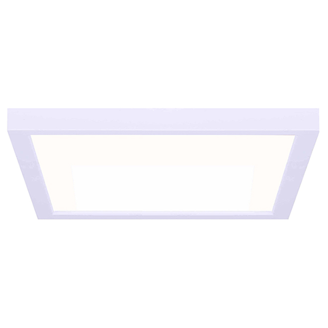 Canarm Square LED Flushmount - Metal and Acrylic - 11-in 15 W - White