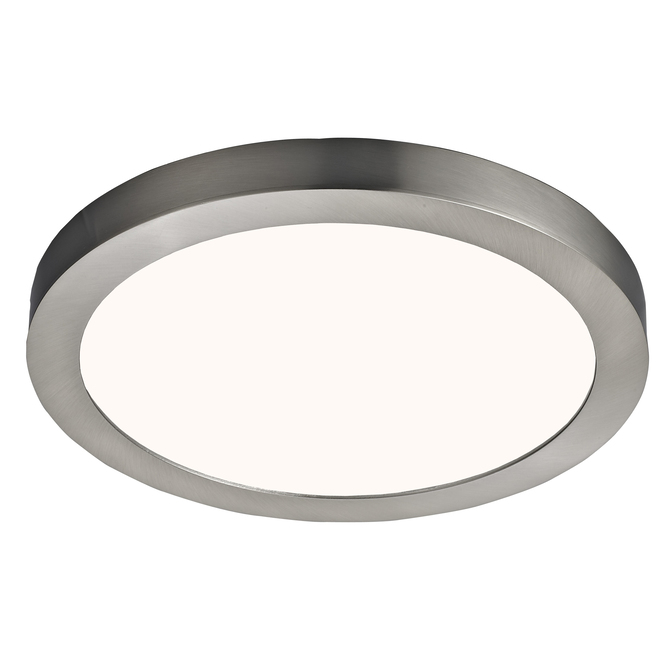 Canarm Round LED Flushmount - Metal and Acrylic - 11-in 15 W - Brushed Nickel
