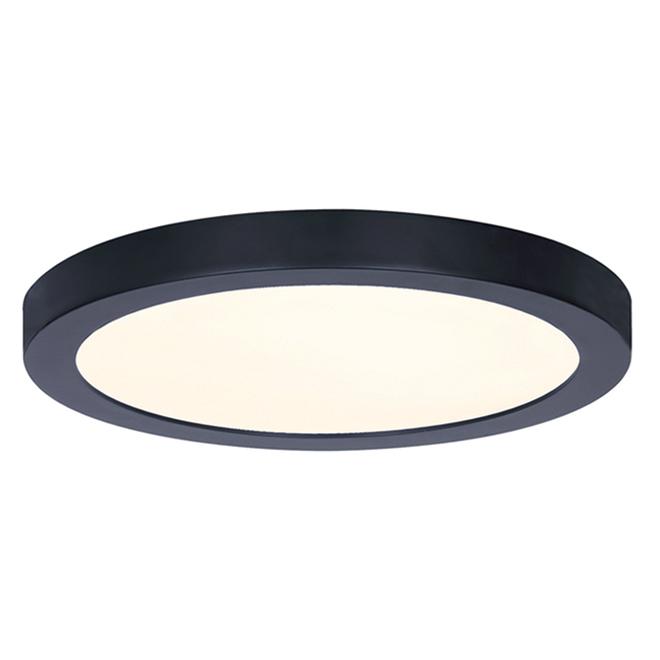 Canarm Flush Mount Ceiling Light - LED - Round - 15 W - 11-in - Metal/Acrylic - Matte Black
