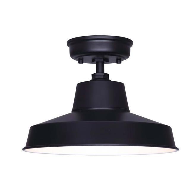 Semi-plafonnier Mazu de Canarm, 1 lumière, métal, noir mat