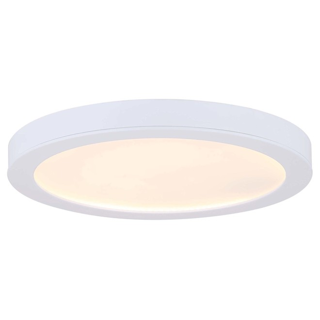 Canarm Round Flush Mount Ceiling Light - Integrated LED - 15 W - 11-in - Metal/Acrylic - White