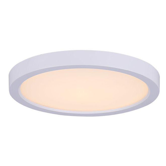Canarm Round Flush Mount Ceiling Light - Integrated LED - 12 W - 5.5-in - Metal/Acrylic - White