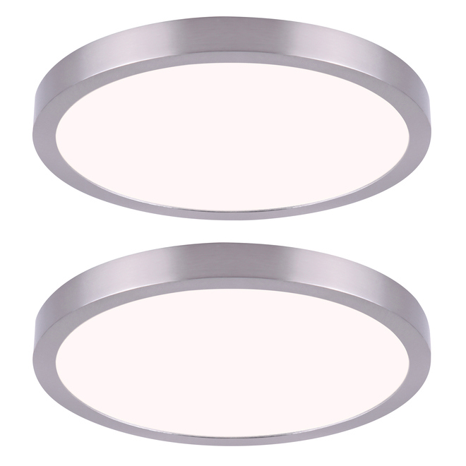 Canarm LED Disks - 11-in - 15 W - Brushed Nickel - Twin Pack