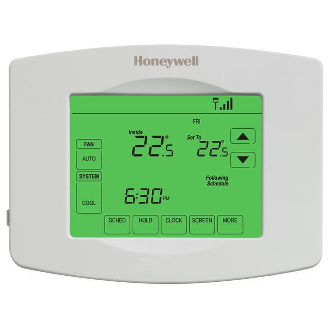 Wi-Fi Programmable Touchscreen Thermostat - White