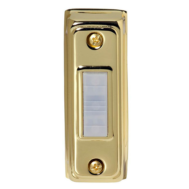 Push Button for Chime - Wired - Illuminated - Brass
