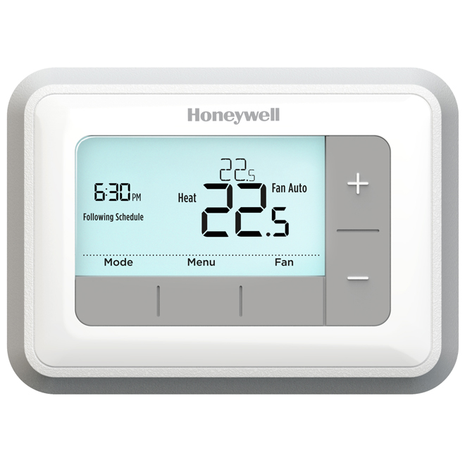 Electric Programmable Thermostat - 24 V - White