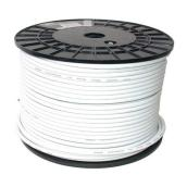 Câble coaxial RG59/U de Cathelle, blanc, calibre FT4, 150 m