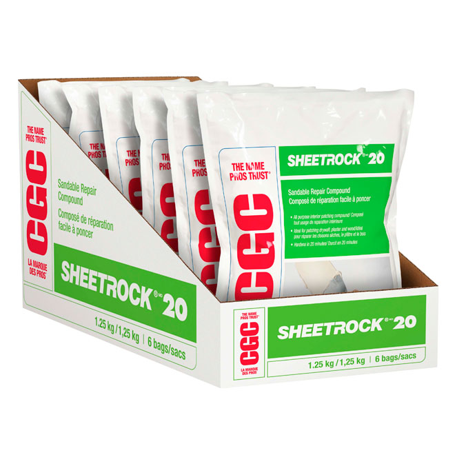 """Quick Set Chemical Joint Compound - """"Sheetrock 20"""""""