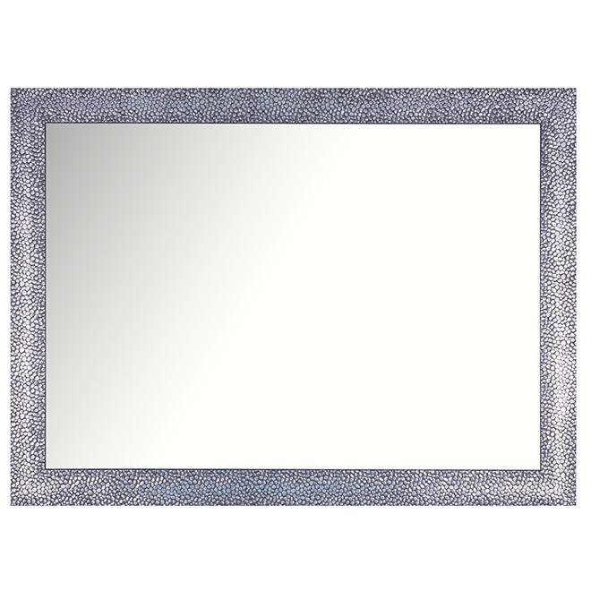 "Rectangular Mirror with Mosaic Frame - 21"" x 29"" - Dark Grey"
