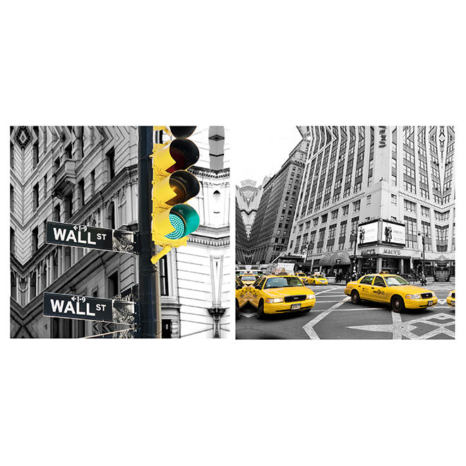 "Set of 2 Canvases - 25"" x 13"" - Assorted Pictures"