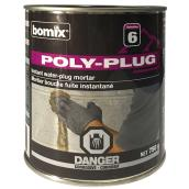 """Poly-Plug"" Instant Water-Plug cement"