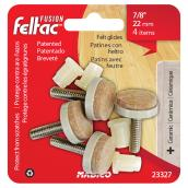 "Felt-Base Threaded Stem Glides - Adjustable - 7/8"" - 4/Pk"