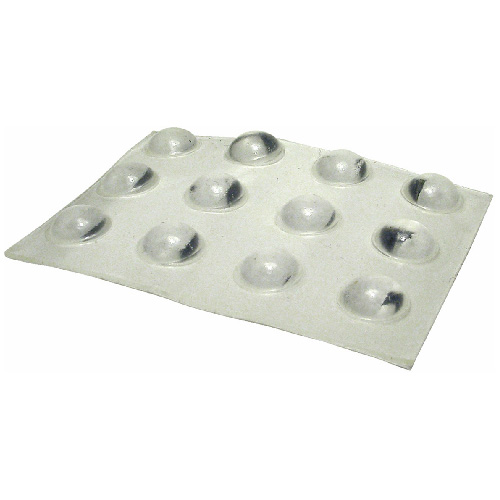 "Self-Adhesive Vinyl Pads - Round - Clear - 3/8"" - 1 2-Pk"