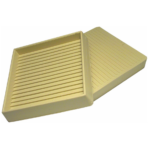 """Non-Skid Rubber Smooth-Base Leg Cups - Beige - 3 3/8"""" -4/Pk"""