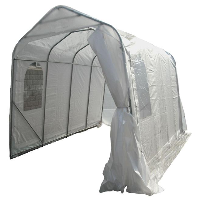 Large Car Shelter - 2 Windows - 11' x 16' - White
