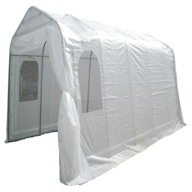 Large Car Shelter - 2 Windows - 11' x 20' - White