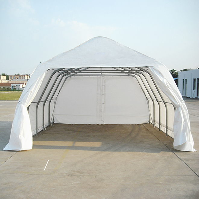 Large Car Shelter - 18' x 20' - Polyethylene - White