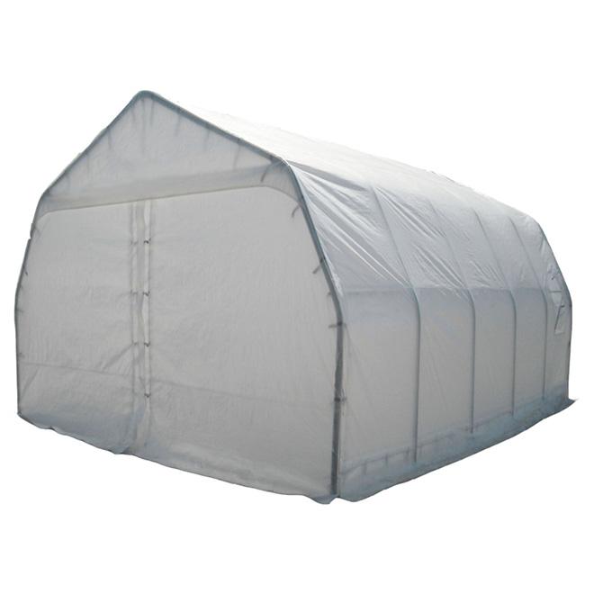 Large Car Shelter - 18' x 20' - Polyethylene - White