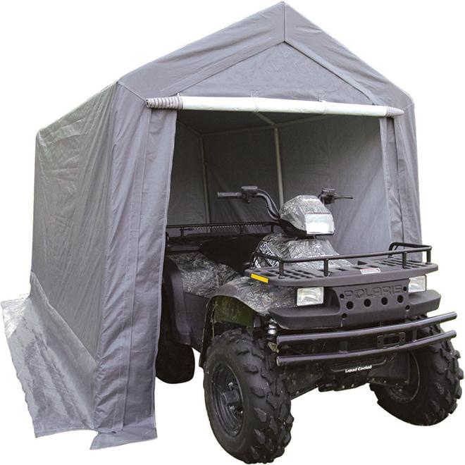 Car Shelter - Polyethylene and Steel - 7' x 12' - Noble Grey