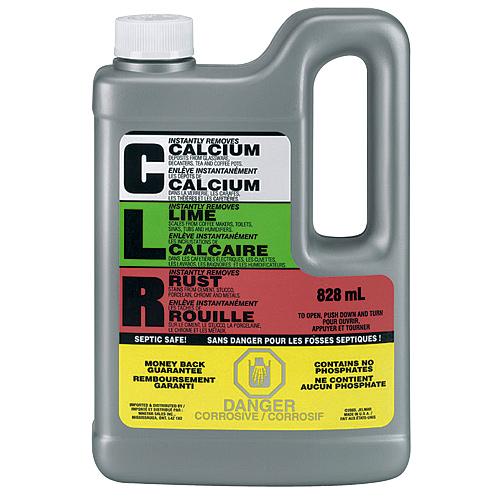 Nettoyant calcium, rouille et tartre, C.L.R., 828 ml