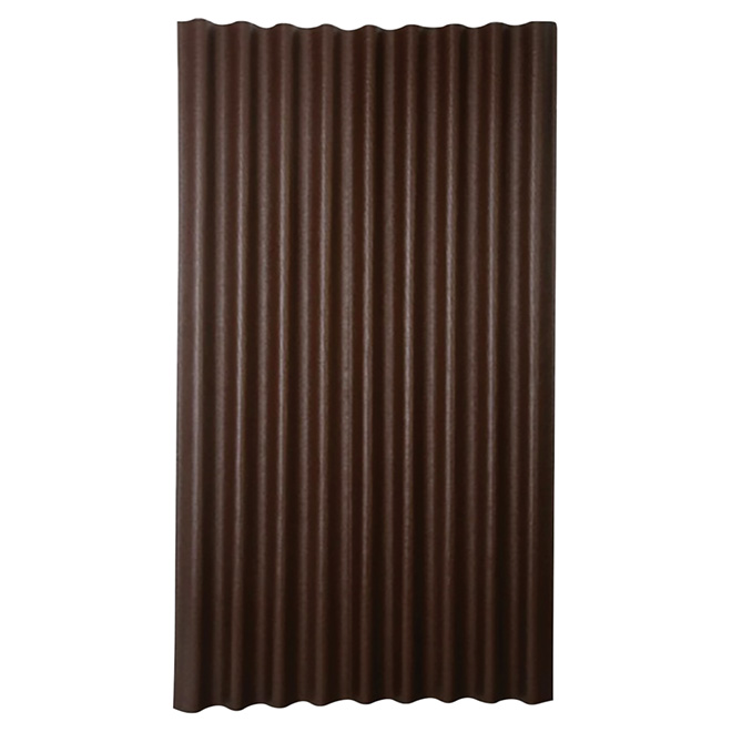 """Panneau pour toiture ondulé, 36"""" x 79"""", brun"""
