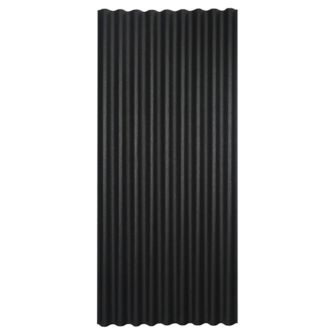 """Corrugated Roofing Panel - 36"""" x 79"""" - Black"""