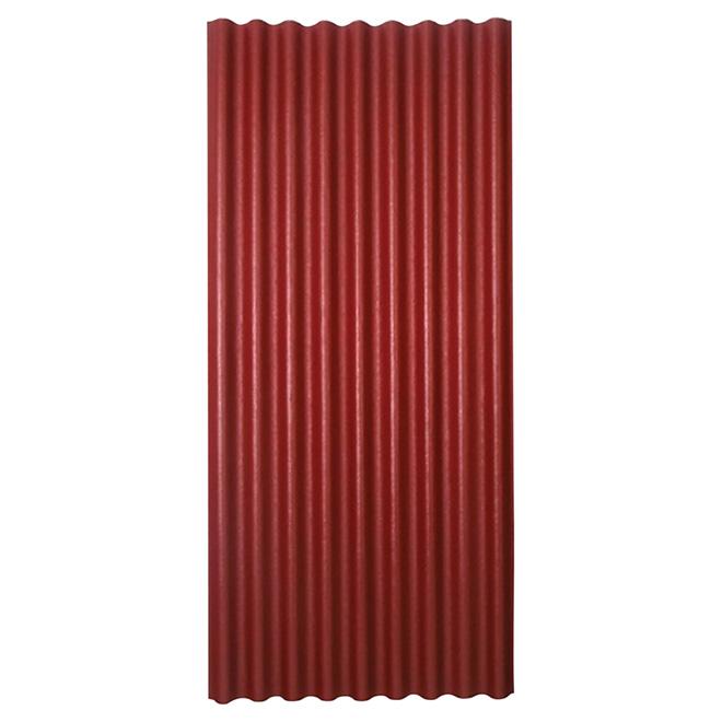 """Panneau pour toiture ondulé, 36"""" x 79"""", rouge"""