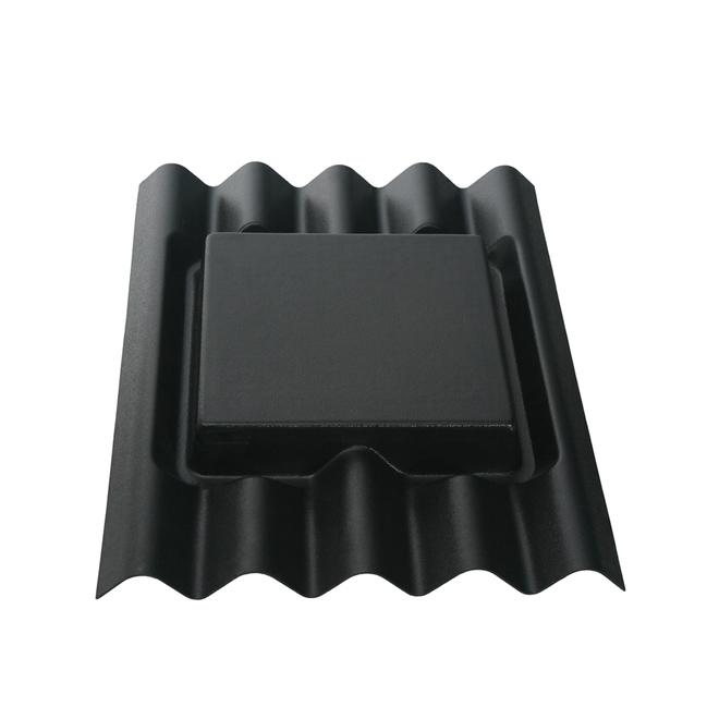 Petit Chaperon de toit, Ondura, plastique, 20 po noir