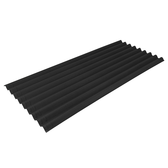 Ondura Premium9 Corrugated Panel - 34.5-in x 79-in - Black