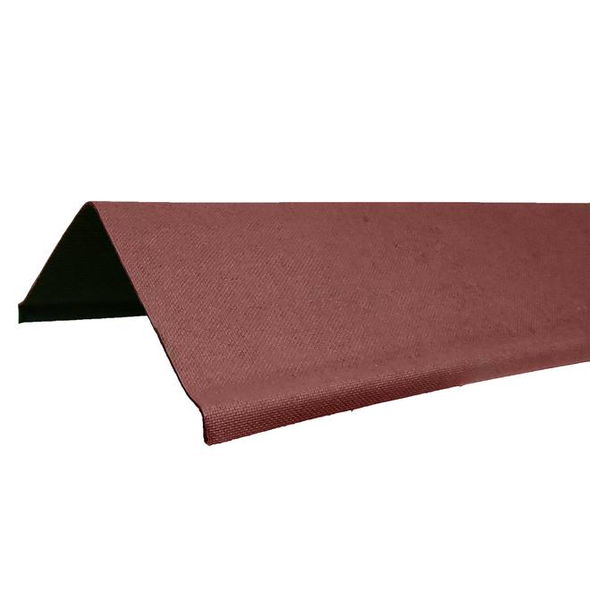 Bouchons de faîtage, Ondura, fibre cellulosique, 39,5 po, rouge