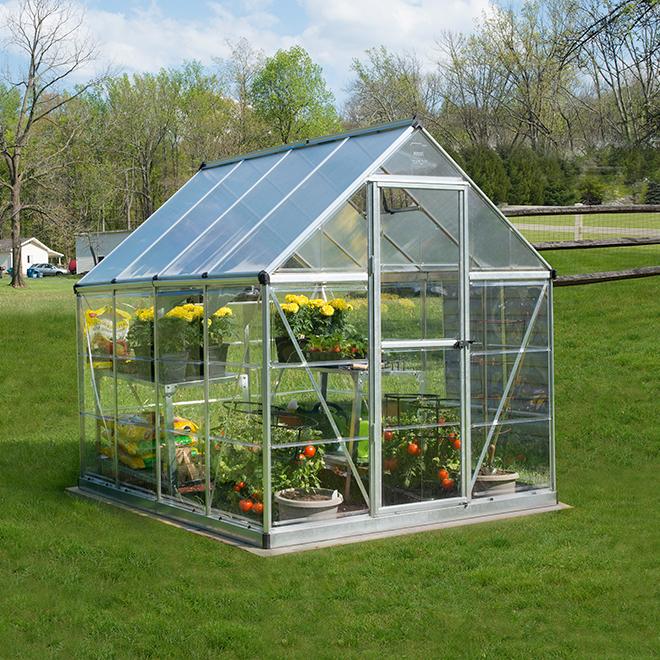 Hybrid Polycarbonate Greenhouse - Silver