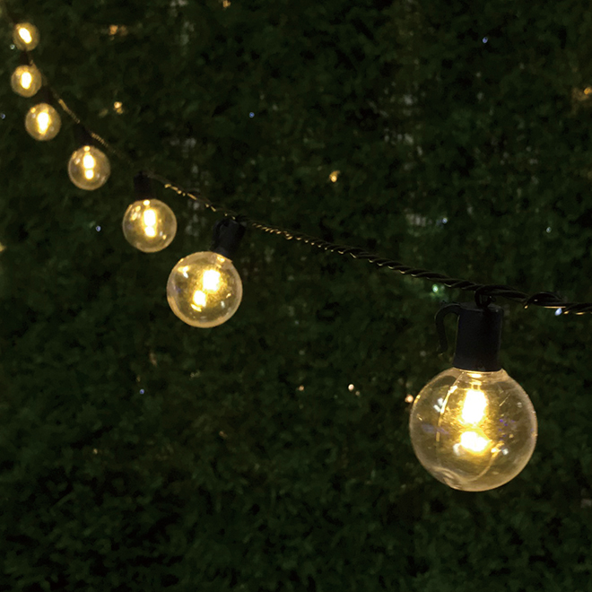 String Lights - 25 LED Lights - Warm White - Spherical