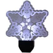 Ensemble de 3 piquets illuminés en forme de flocon, blanc pur